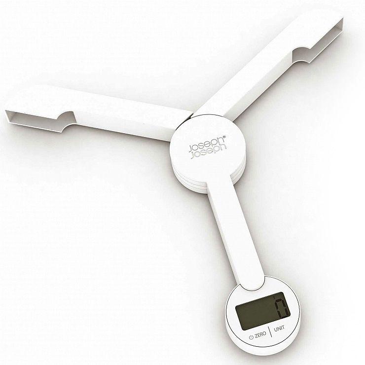 Весы Joseph Joseph TriScale кухонные складные белые