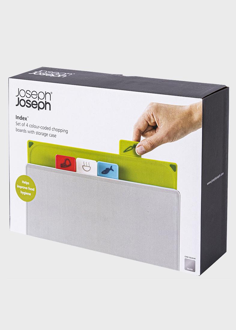 Набор досок Joseph Joseph Index с кейсом для хранения разноцветный