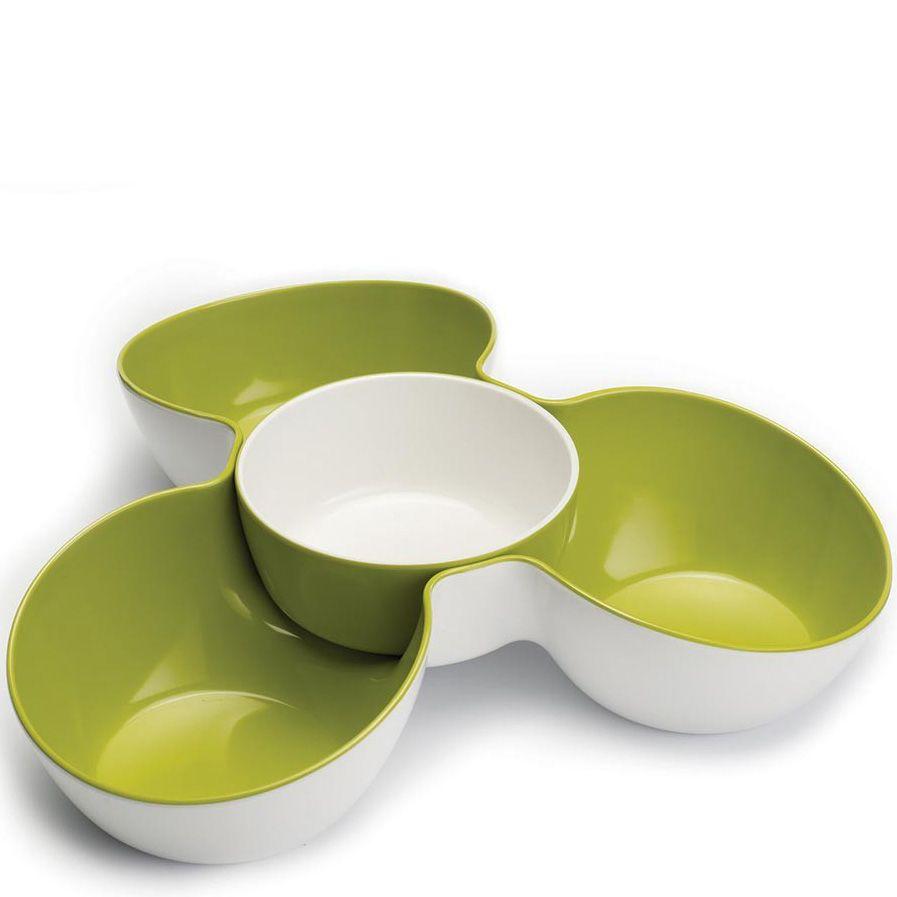 Миска Joseph Joseph Triple Dish Set порционная тройная бело-зеленая
