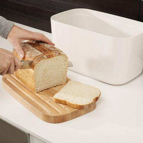 Хлебница с доской Joseph Joseph Melamine Bread Bin пурпурная