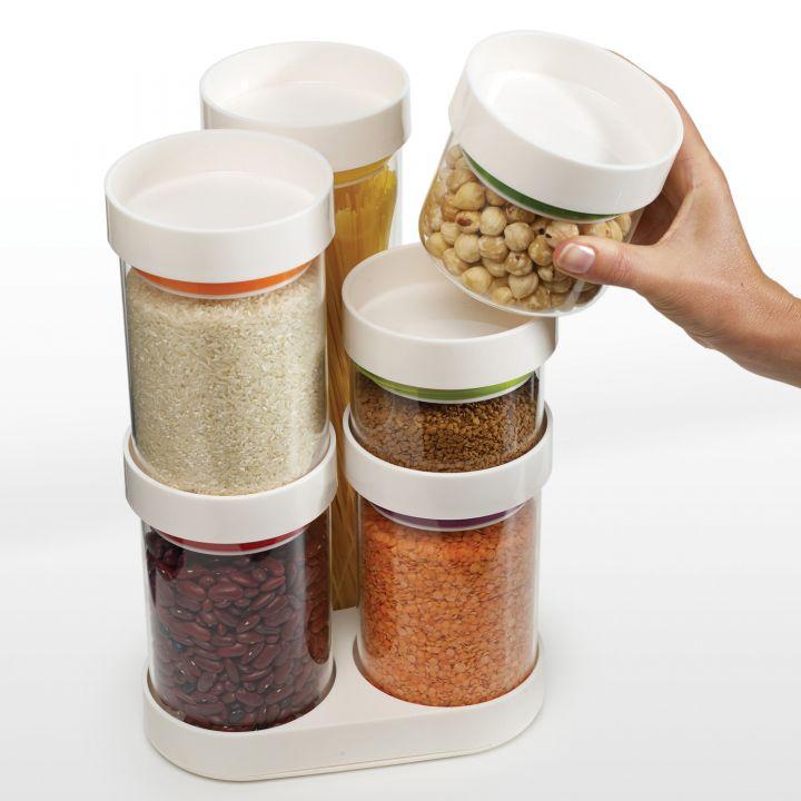 Набор емкостей Joseph Joseph из 7 предметов Food Store серый