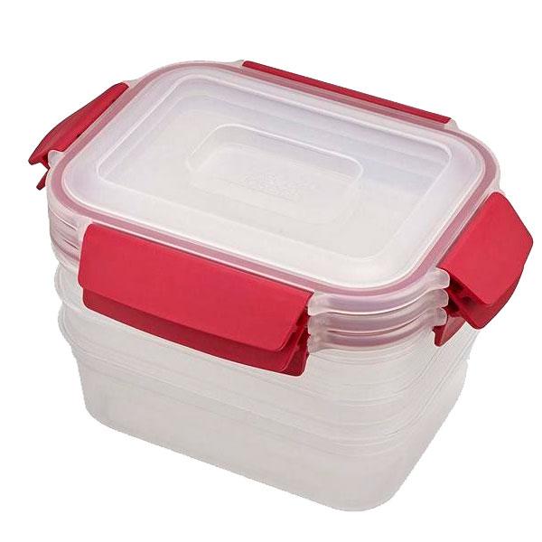 Набор контейнеров пищевых Joseph Joseph Nest красные