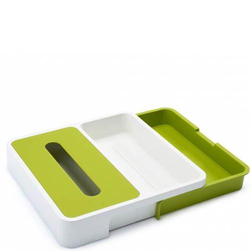 Органайзер для ящика Joseph Joseph Drawer Store белый с зеленым