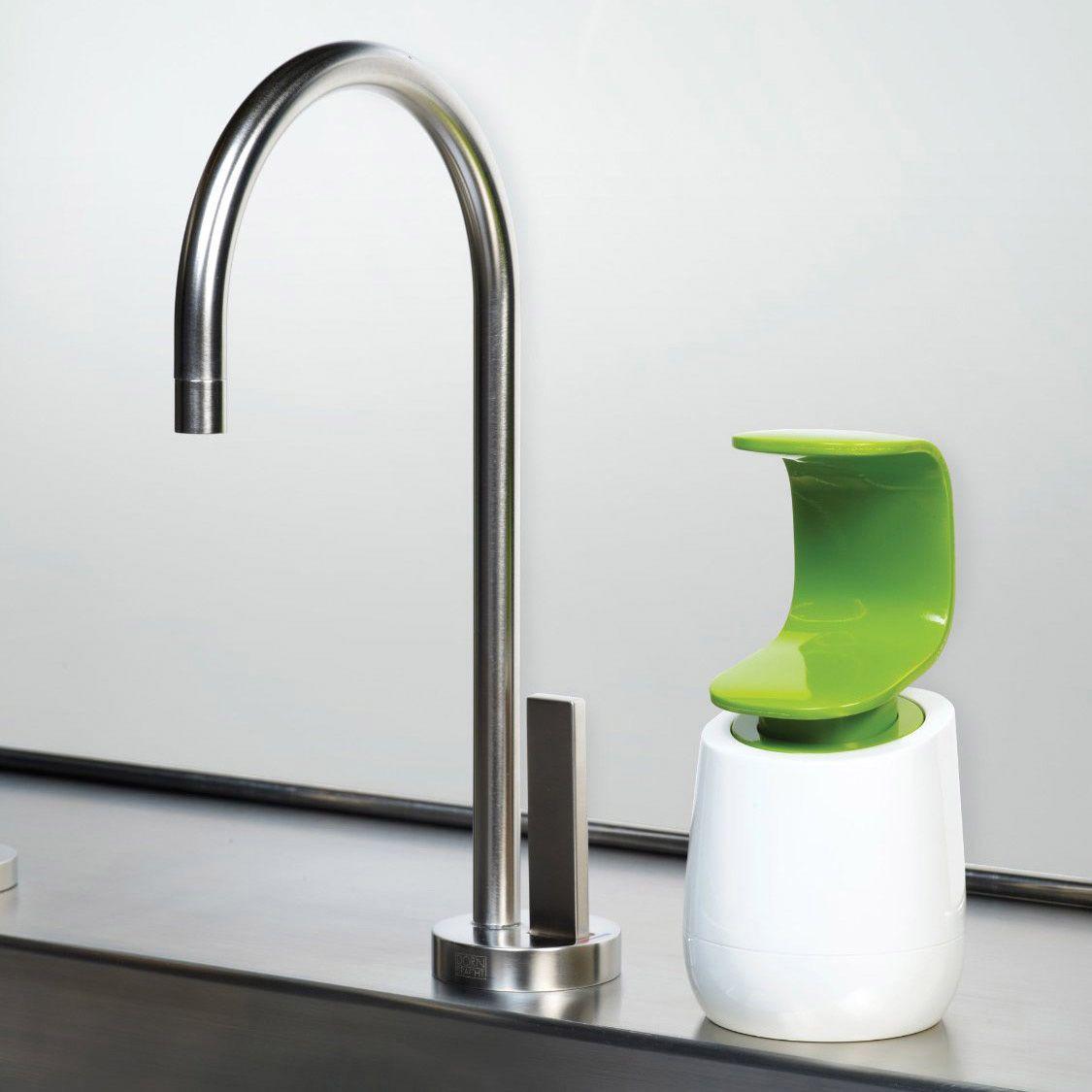 Емкость с дозатором Joseph Joseph C-pump бело-зеленая для жидкого мыла