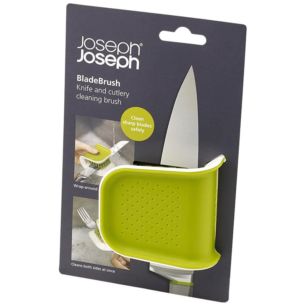 Зеленая щетка Joseph Joseph Wash n Drain BladeBrush для столовых приборов