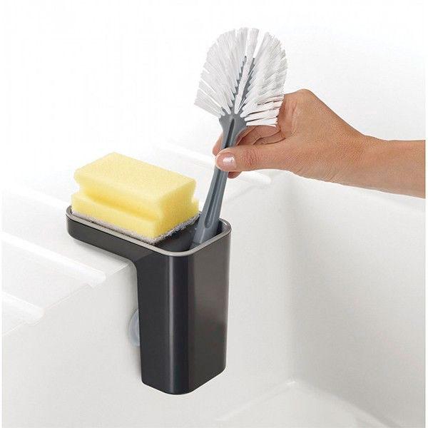 Органайзер для мойки со сливом лишней жидкости Joseph Joseph Sink Pod серый