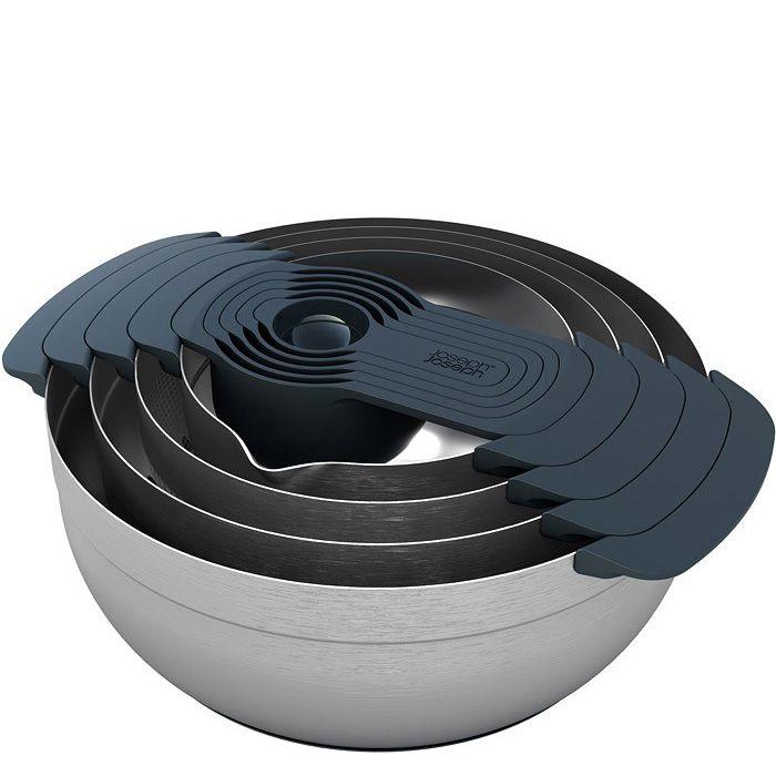 Набор Joseph Joseph Nest 100 из 9 мисок и аксессуаров из стали