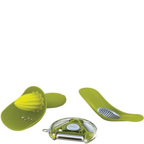 Набор кухонных инструментов Joseph Joseph из трех приборов зеленого цвета