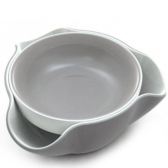 Миска Joseph Joseph Double Dish двойная бело-серая
