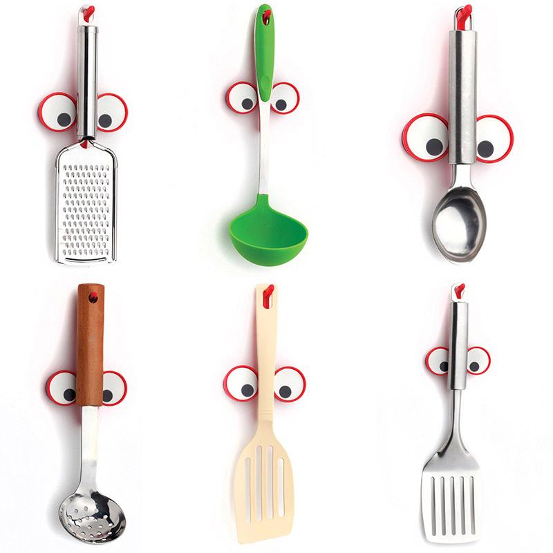 Держатель для кухонных принадлежностей Peleg Design Look Hook красного цвета