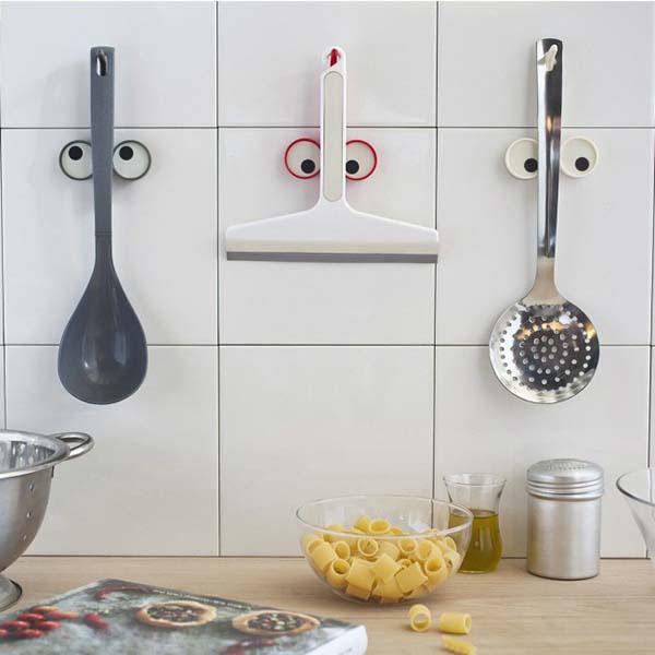 Держатель для кухонных принадлежностей Peleg Design Look Hook серого цвета