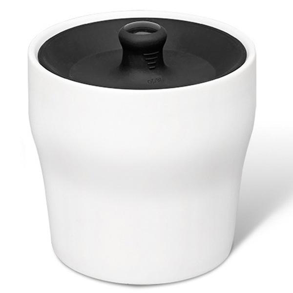 Емкость для хранения продуктов PO Selected Notin бело-черная