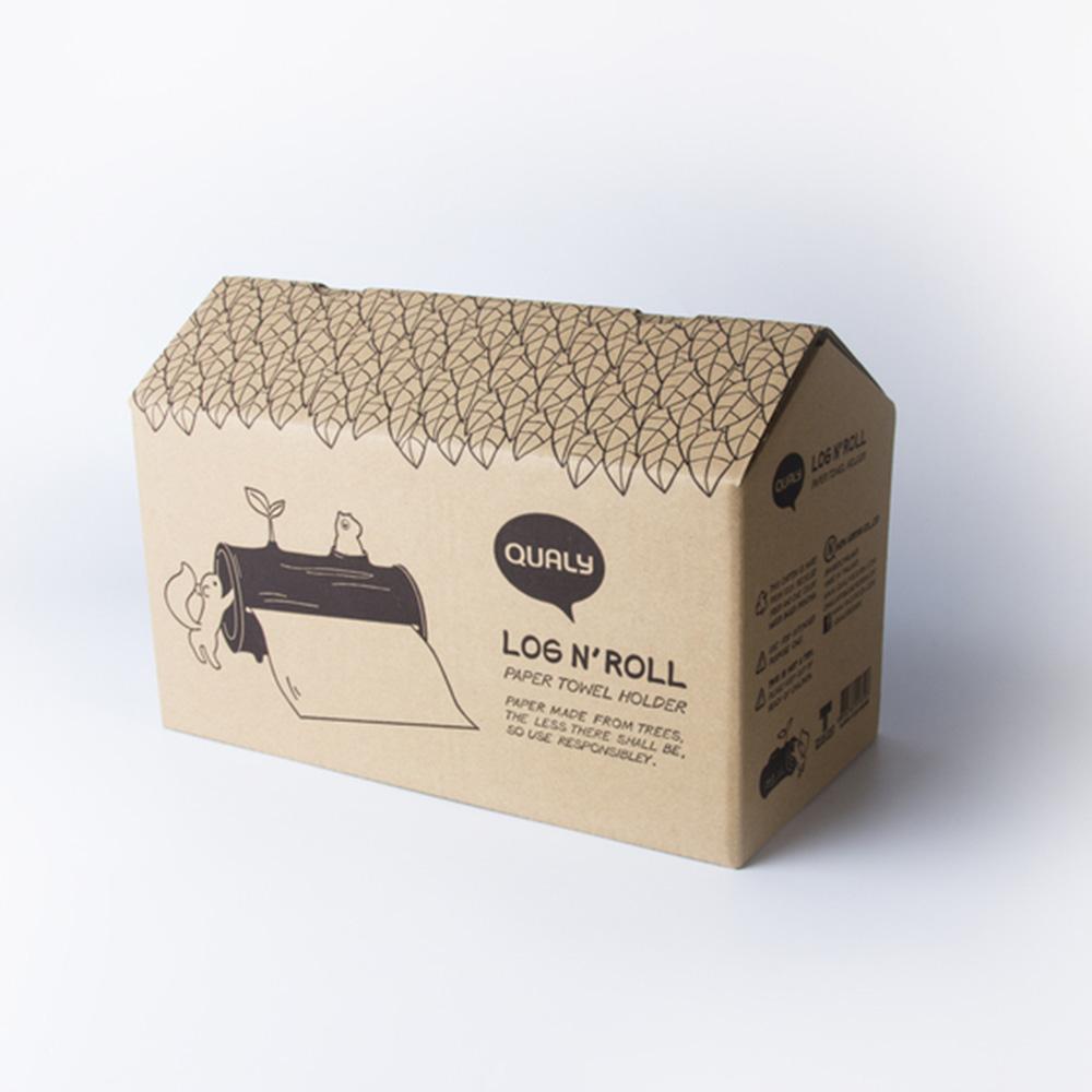 Подставка для бумажных полотенец Qualy Log and Roll
