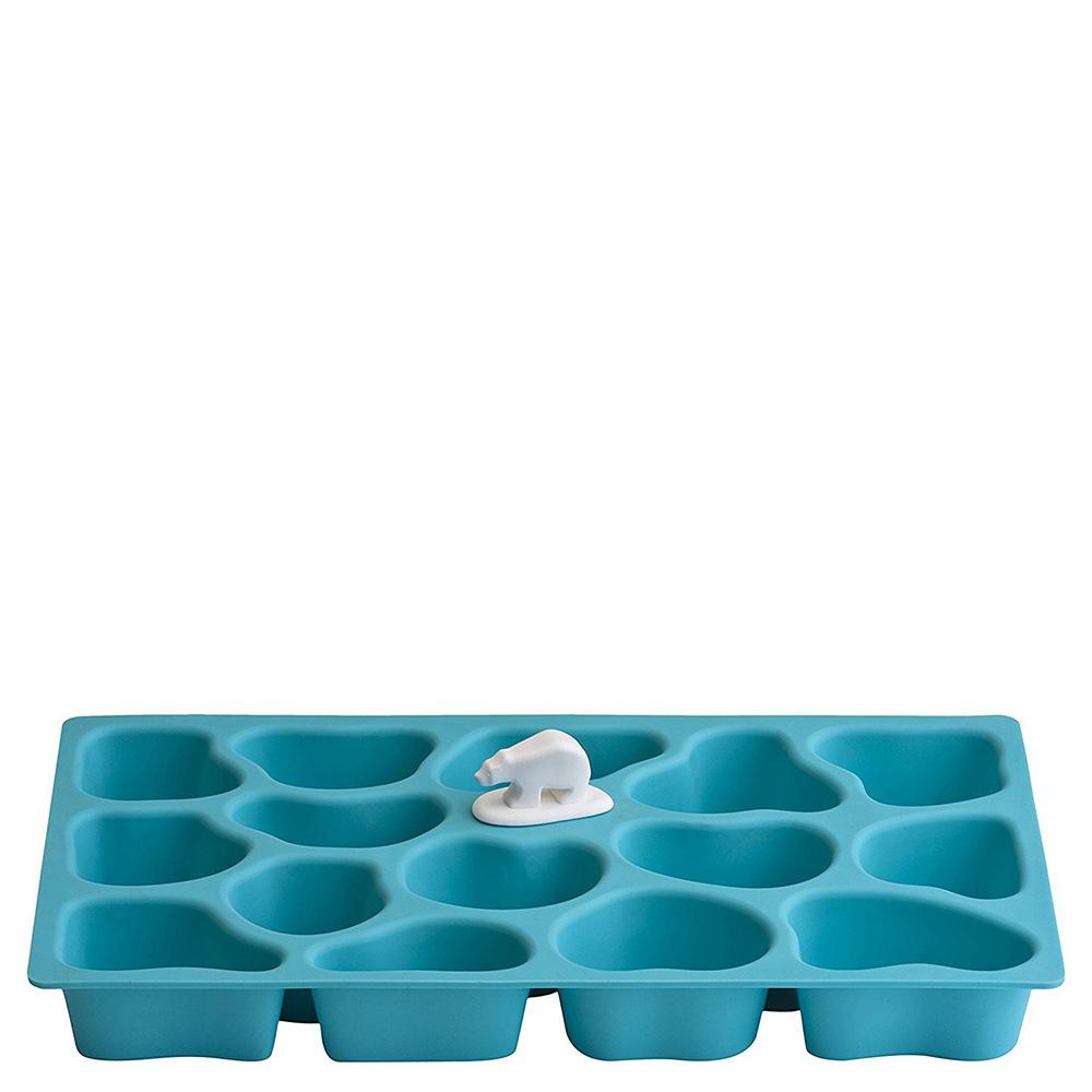 Форма для льда Qualy Polar Ice Tray голубого цвета