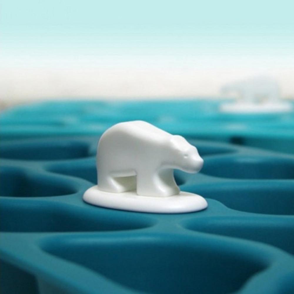 Форма для льда Qualy Polar Ice Tray синего цвета