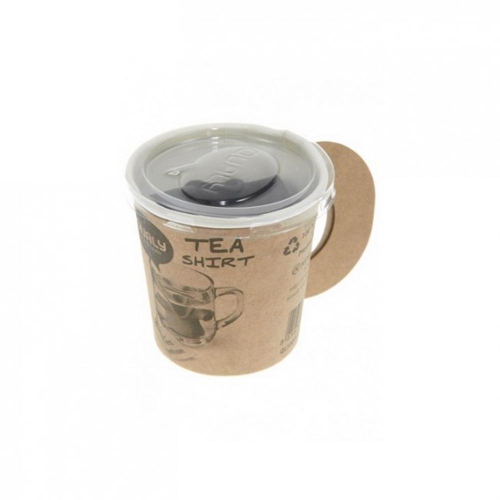 Заварник для чая Qualy Tea Shirt черного цвета