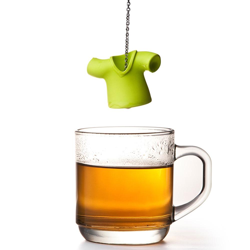 Заварник для чая Qualy Tea Shirt зеленого цвета