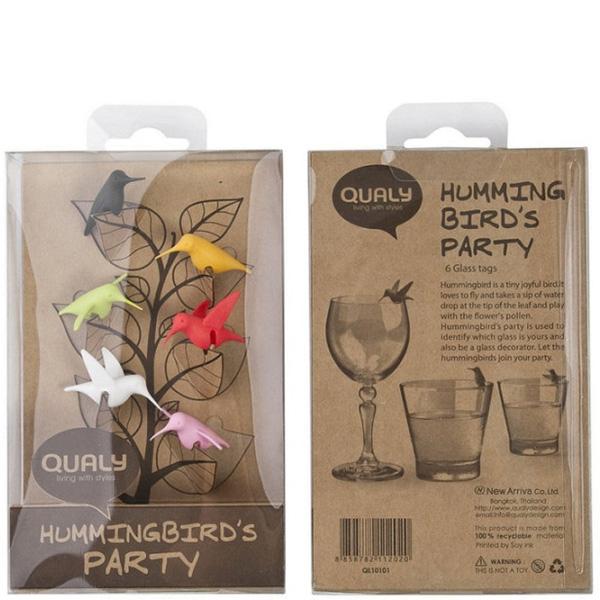 Набор маркеров-колибри для бокалов Qualy Humming Bird Mark