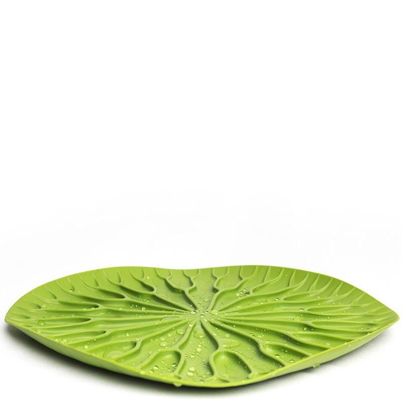 Сушилка-поднос для посуды Qualy Bai Bua Tray зеленого цвета