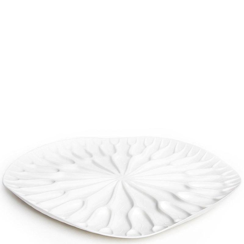 Сушилка-поднос для посуды Qualy Bai Bua Tray белого цвета