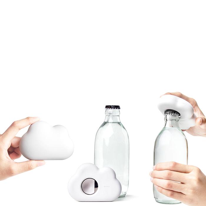 Открывашка для бутылки Qualy Cloud белая
