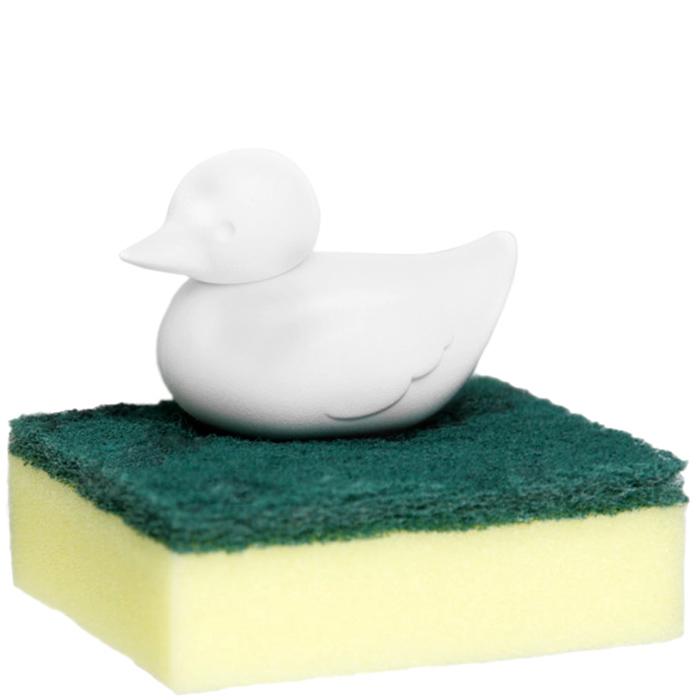 Держатель для губки Qualy Duck Sponge белого цвета