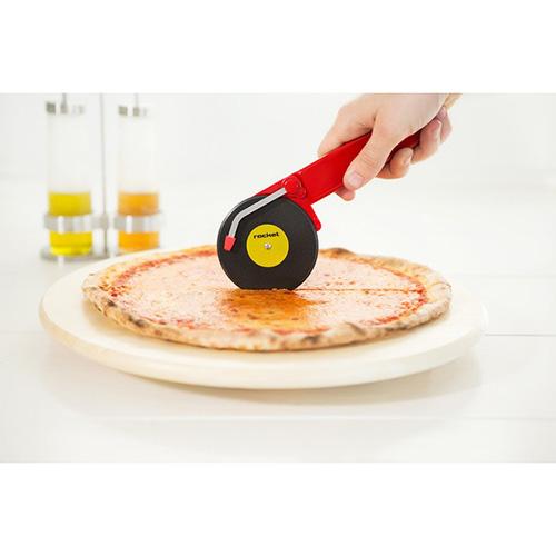 Нож для разрезания пиццы Rocket Top Spin красного цвета