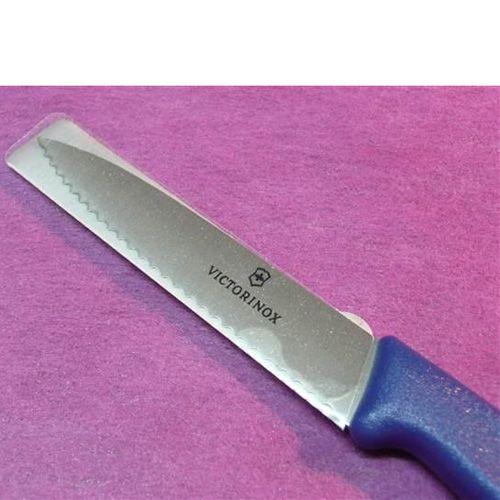Набор Victorinox из 5 ножей и овощечистки с синими рукоятями