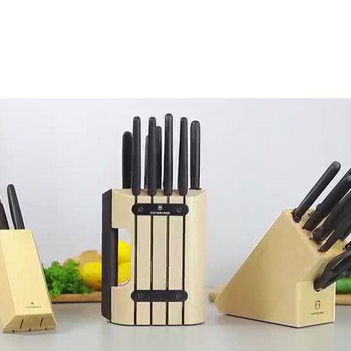 Набор Victorinox из 11 предметов с черными рукоятями и подставкой