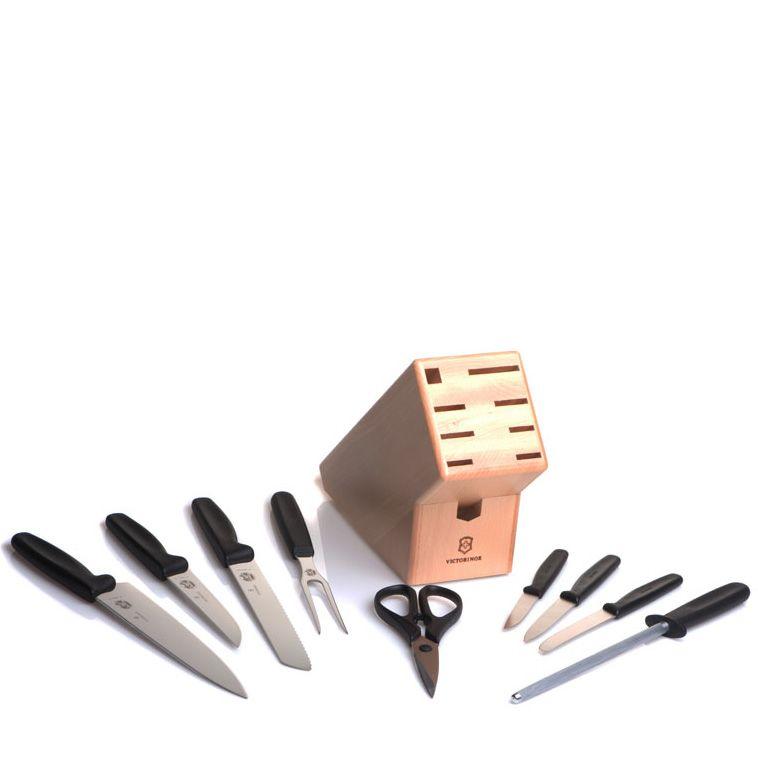 Набор Victorinox из 6 ножей ножниц мусата и поварской вилки в подставке