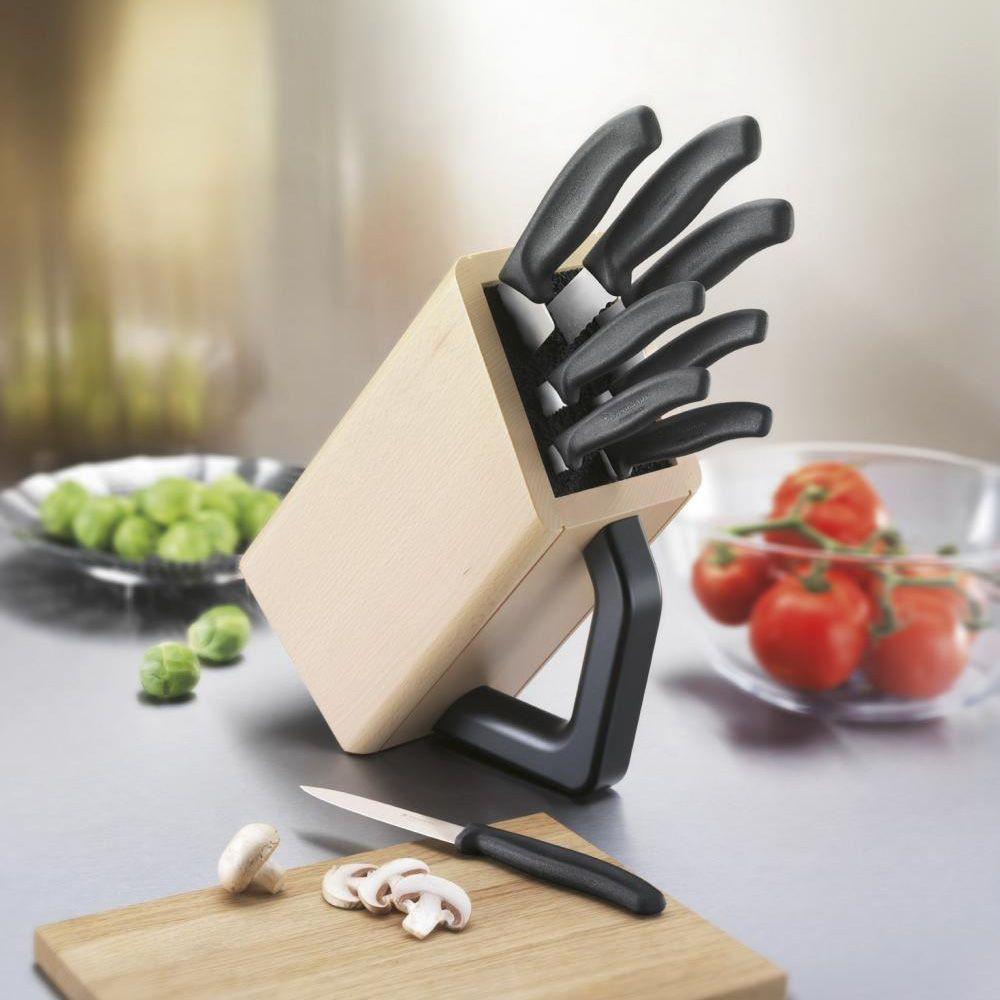 Набор Victorinox SwissClassic из 8 ножей в буковой подставке с ручкой