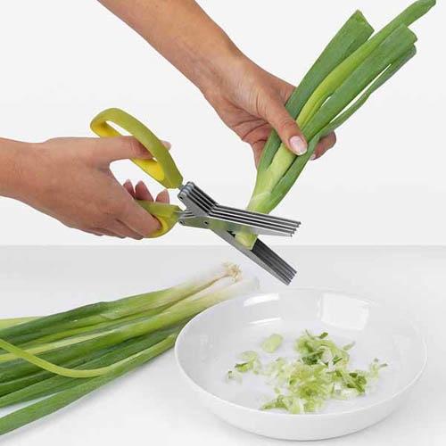 Ножницы для зелени Brabantia с силиконовой щеточкой, фото