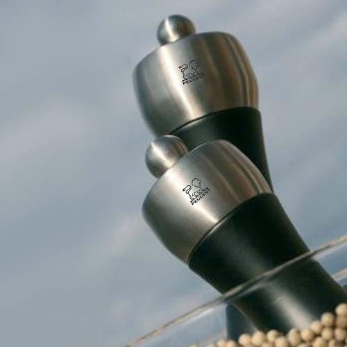 Мельница для перца Peugeot Fidji 12 см черная из бука и стали, фото