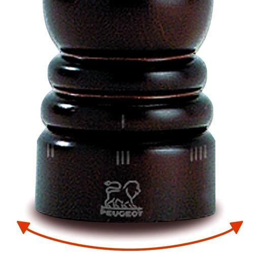 Мельница для соли Peugeot Paris U темно-коричневая из бука 18 см, фото