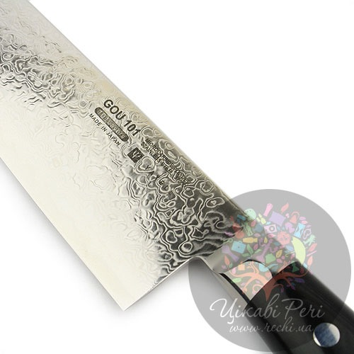 Нож RAN Santoku из дамасской стали универсальный, фото