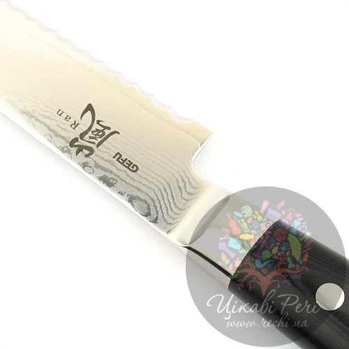 Нож RAN из дамасской стали для хлеба, фото