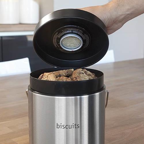 Емкость Brabantia для хранения печенья из матовой стали, фото