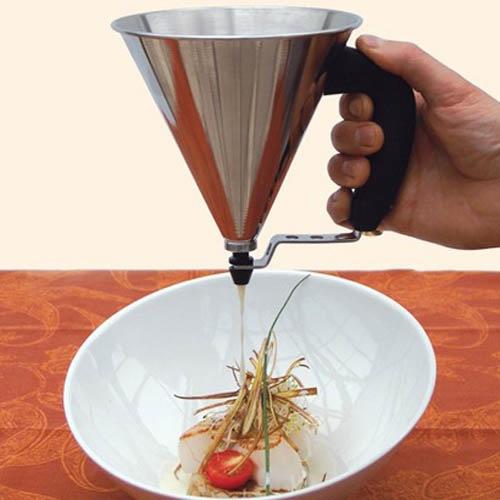 Кулинарная воронка с с клапаном De Buyer Pastry 800 мл на подставке, фото