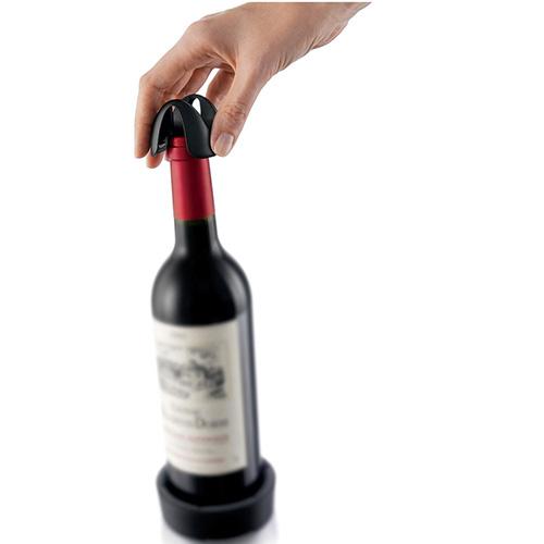 Срезатель фольги Vacu Vin Foil Cutter для винных бутылок с подставкой для пробки , фото