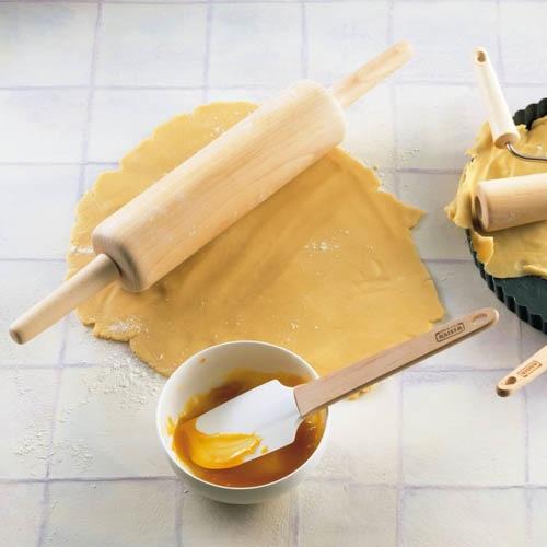Лопатка Kaiser Backform Patisserie термостойкая силиконовая с деревянной ручкой, фото