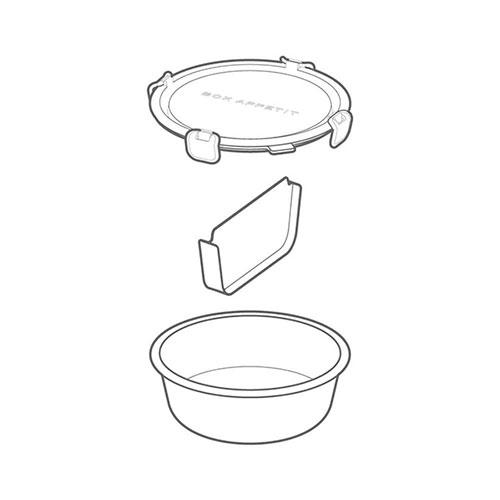 Контейнер для ланча Black+Blum Box Appetit круглый большой, фото