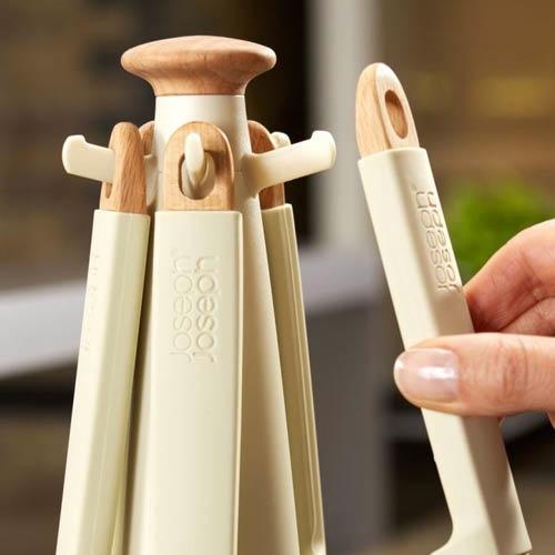 Набор кухонных приборов Elevate Joseph Joseph деревянный белый, фото