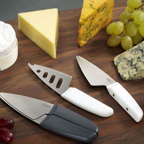 Нож для сыра двойной Duo Joseph Joseph белый, фото