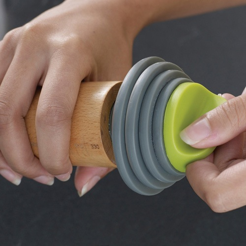 Скалка Joseph Joseph Rolling Pin Plus со съемными серо-зелеными дисками , фото