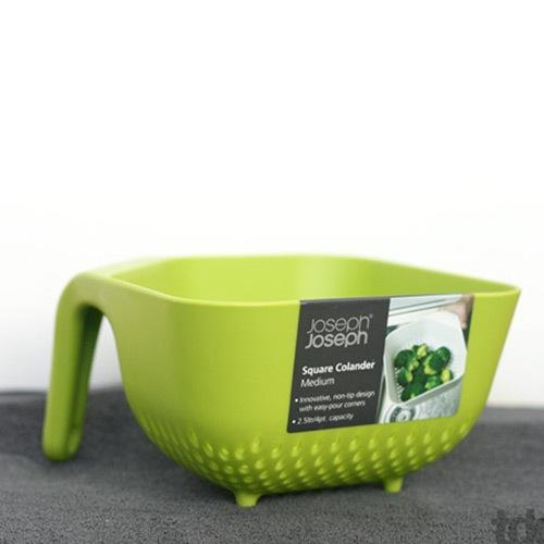 Большой квадратный  дуршлаг Joseph Joseph зеленый, фото
