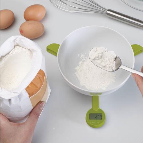 Весы Joseph Joseph TriScale кухонные складные зеленые, фото