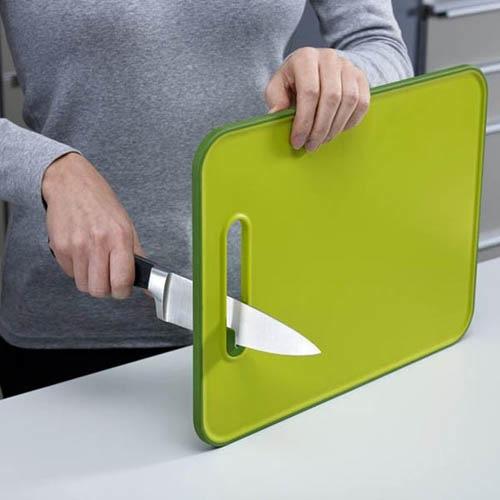 Доска с точилкой для ножей Joseph Joseph Slice&Sharper серая маленькая, фото