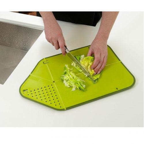 Доска-дуршлаг Rinse Chop Plus Josepf Josepf зеленая, фото