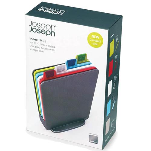 Набор маленьких досок Joseph Joseph Index Mini в сером кейсе, фото
