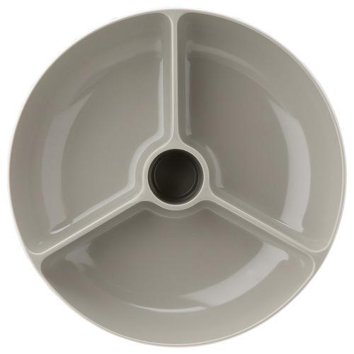 Миска Joseph Joseph Double Dish двойная большая серо-белая, фото